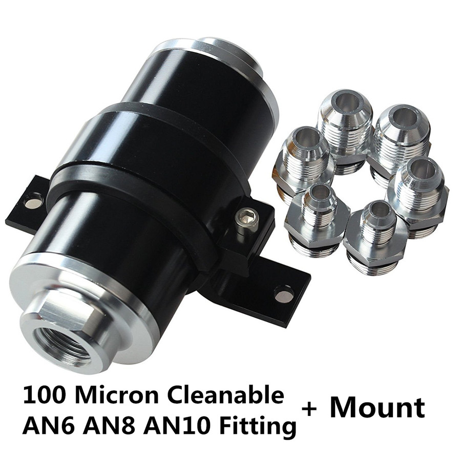 100 Micron Aluminum Alloy Car Racing Fuel Filter Cleanable An6 An8 Truck Store Categories