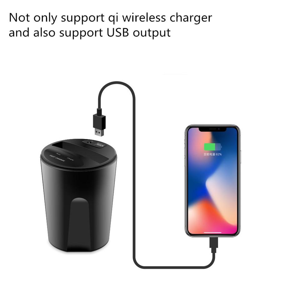 qi induktive auto ladestation wireless charger halterung f u00fcr iphone x  8 samsung