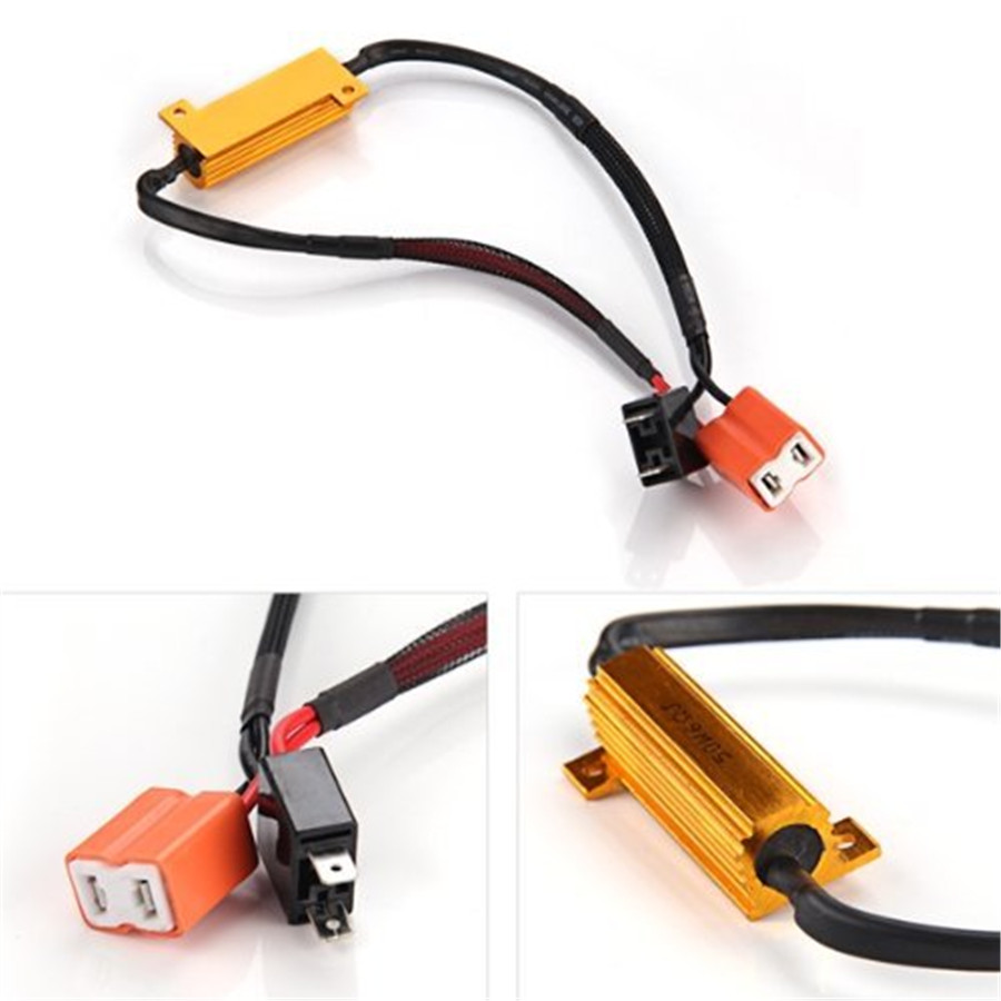 2x Car H7 50w 6 Ohm Error Free Load Resistor Led Decoder Wiring Harness Problem 2 Pieces Of Brand New Ceramic Plug And Equips With 60hm Resistors