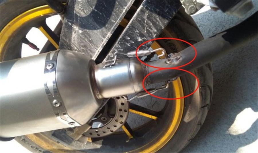 18* Motorcycle Exhaust Pipe Muffler  Spring Hook Fixed tools kit Stainless Steel