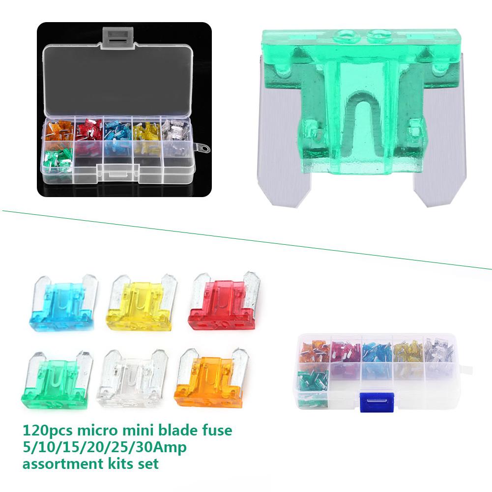 igijljpigkijpfjigqqjnipqroonpolnihBHyG 120pcs auto car truck micro mini blade fuse for box block fuse