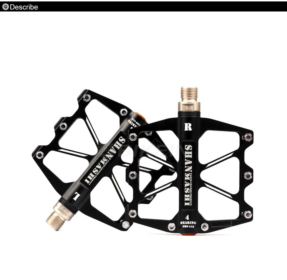 BIEKIN MTB Bike Pedals 3 Sealed Bearings CNC Aluminum Fixed Gear Anti Slip Red