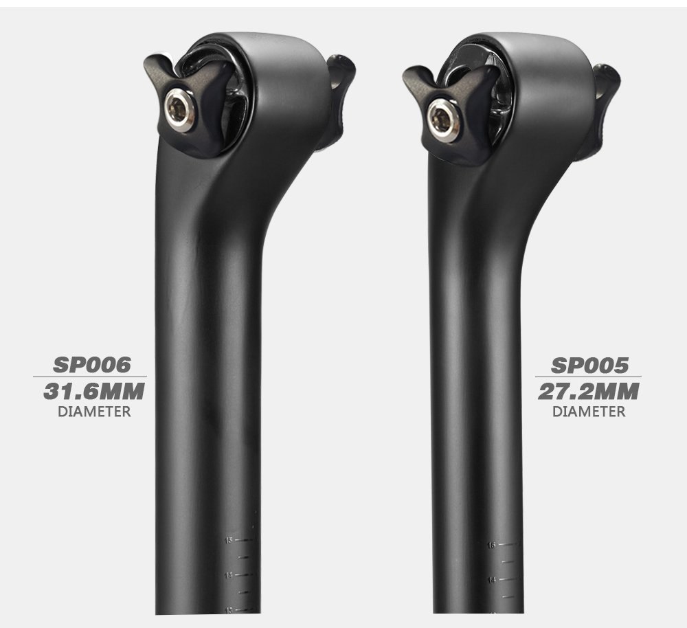 OG-EVKIN Light Weight Carbon Seatpost 27.2//31.6 MTB Bicycle Road Bike Seat Post