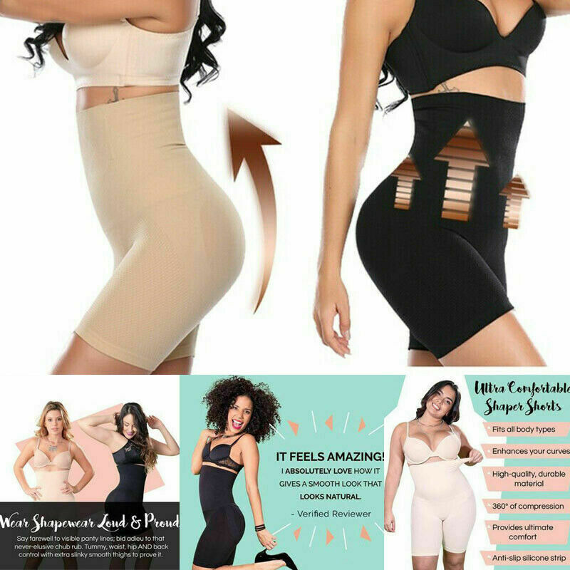 63241e45d06 High Waist Shorts Girdle Butt Lift Pants Bum Leg Full Body Shaper ...