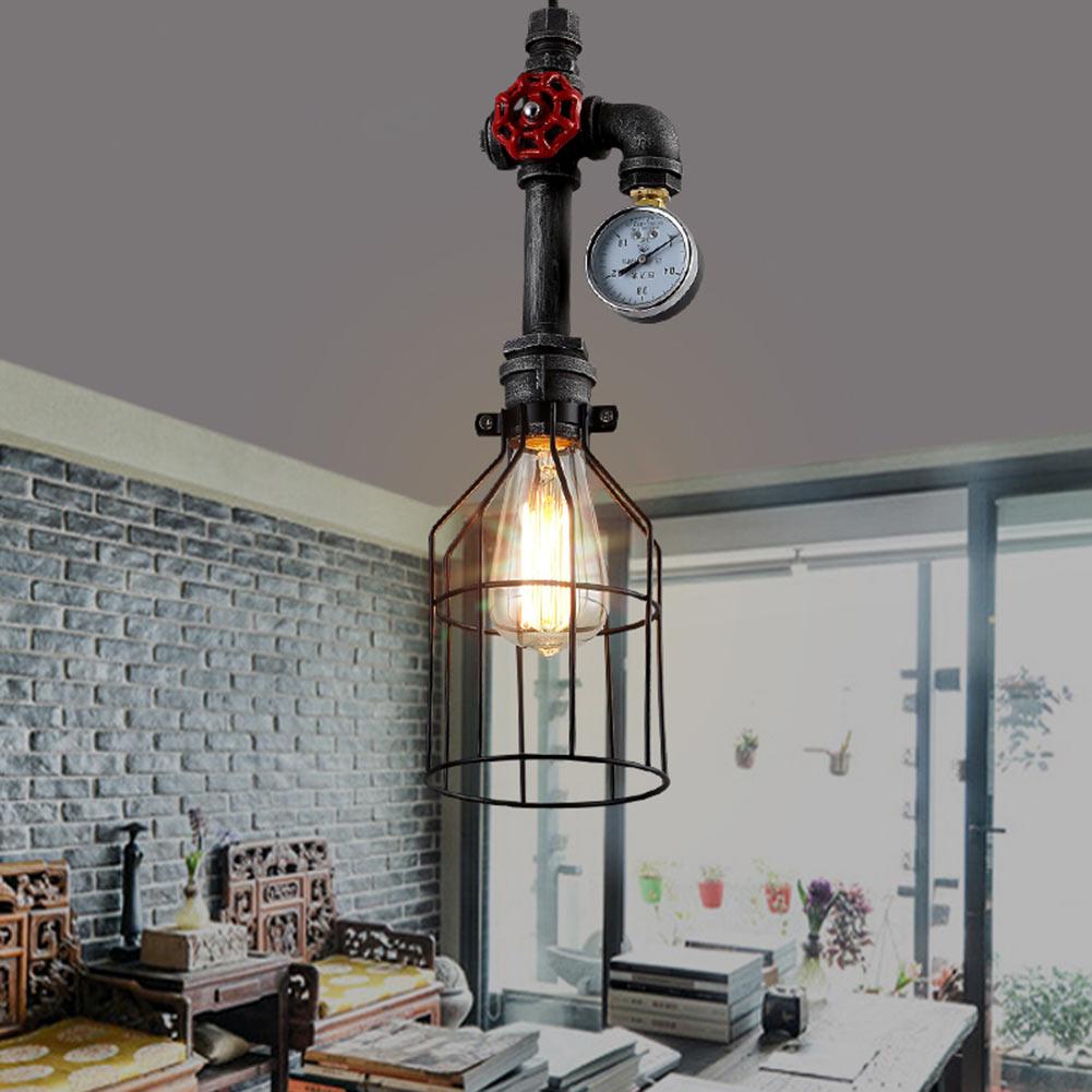 industrial pendant lighting. Vintage Country Industrial Ceiling Lamp Pipe DIY Pendant Light Rust Clock Pump 650434799133   EBay Lighting