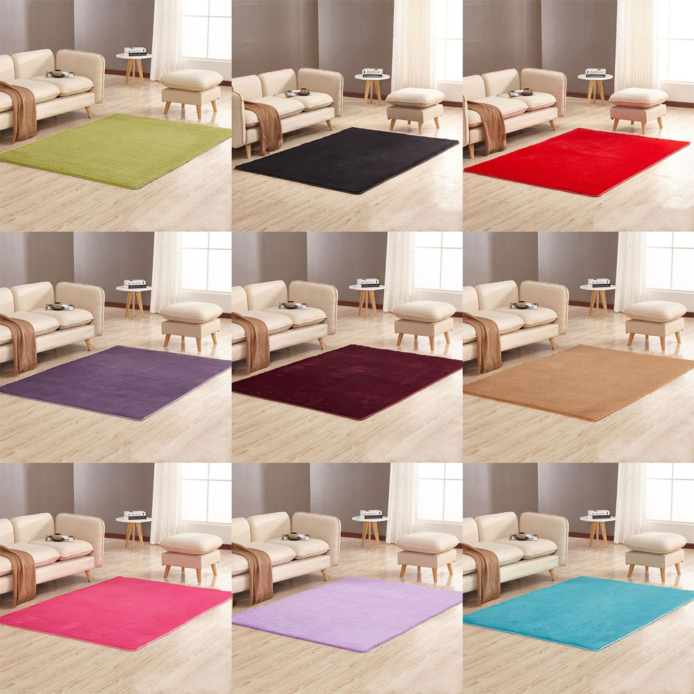 Soft Thick Anti Skid Area Rug Dining Room Decor Home Bedroom Carpet Floor Mat Ebay