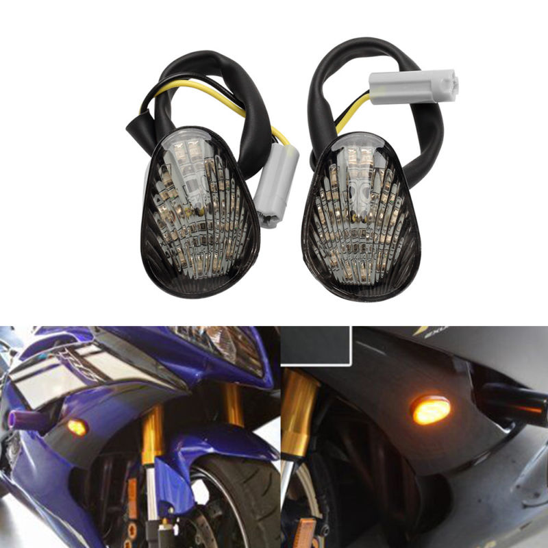 Smoke Flush Mount LED Turn Signal Light Blinker Fits Yamaha YZF R1 R6 R6S 2X US