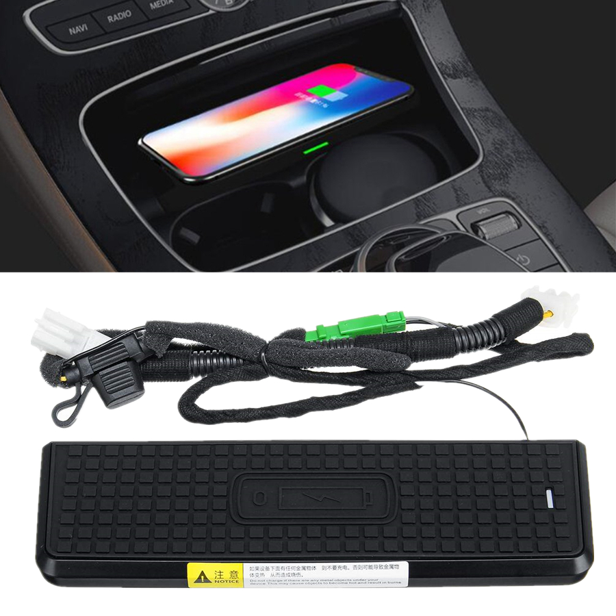 Details about 10W Qi Wireless Car Center Console Charger Pad For BMW 320i  330i F30 iPhone 8 XS