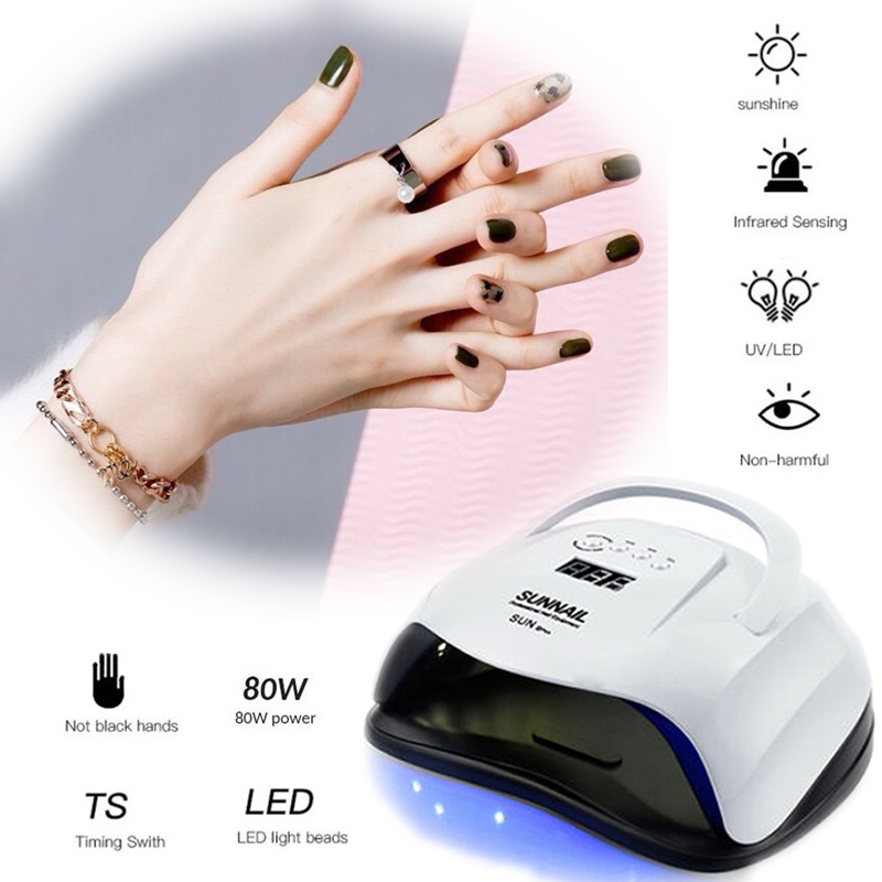 80W SUN XPlus Nail Lamp UV LED Light Professional Nail Dryer Gel Machine Curing