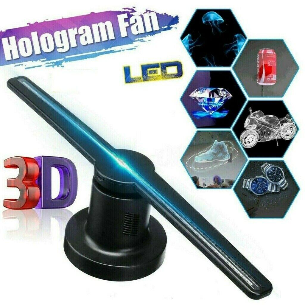 QIN 3D Hologram Advertising Fan HD Wi-Fi 3D Hologram LED