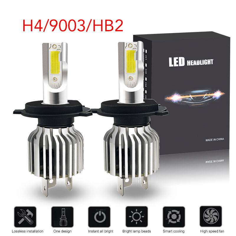 RACBOX 8000LM COB Chips H9 H8 Low Beam//Fog Light Bulb Conversion Kit 6000K White Color H11 Led Headlight Bulbs