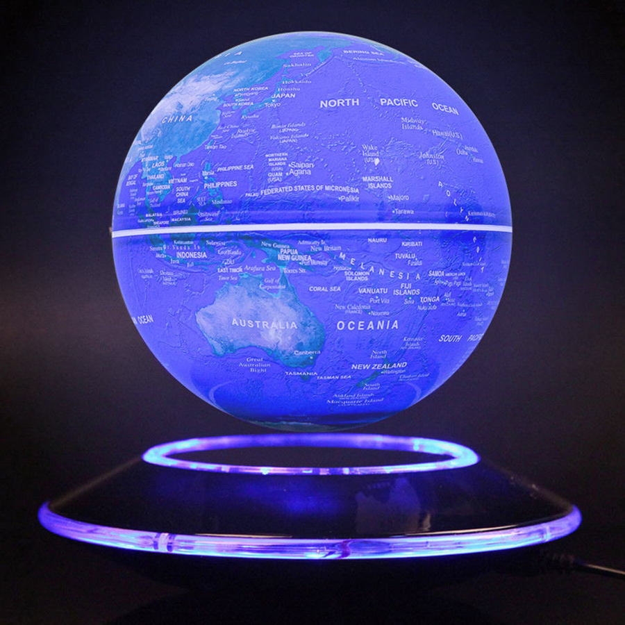 8 ledc shape magnetic levitation floating globe world map light 6 inch globe features 1 use electromagnet and hidden sensor to enable the globe to levitate motionlessly in the air 2 perfect combination of technology gumiabroncs Image collections