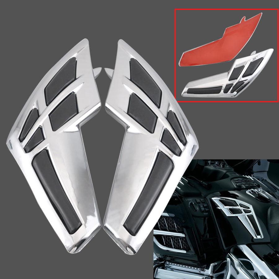 1pair Motorcycle ABS Fairing Tank Trim For Honda Goldwing 1800 GL1800 2001-2011