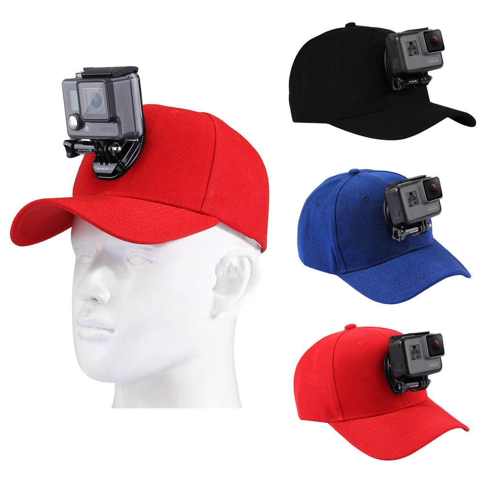 DJI New Action Color : Blue Xiaoyi and Other Action Cameras Reliable Baseball Hat with J-Hook Buckle Mount /& Screw for GoPro HERO7 //6//5 //5 Session //4 Session //4//3+ //3//2 //1