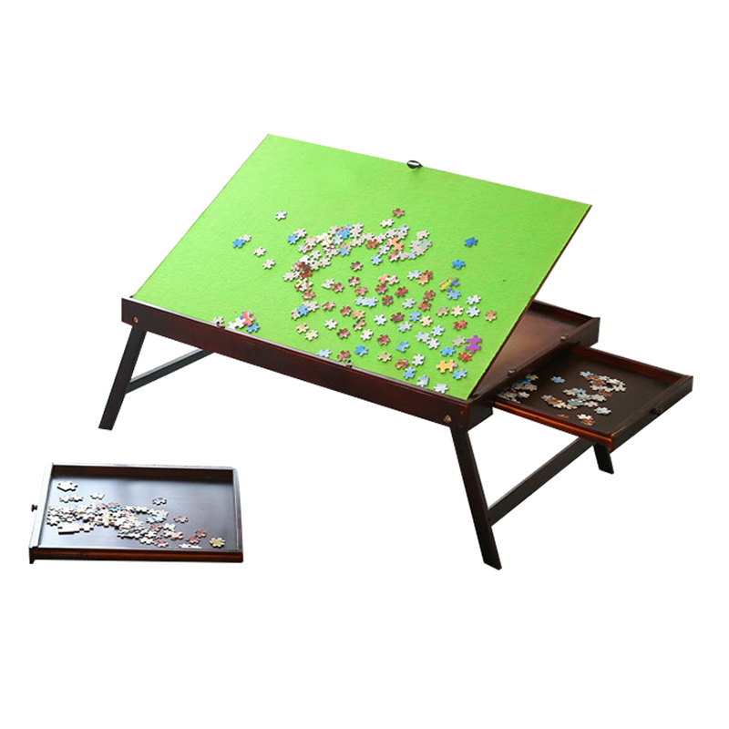 UK STOCK Puzzle Accessories for 1500Pcs Wooden Jigsaw Puzzle Table For Adults /& Kids,Large Portable Folding Table For Puzzle Games Home Furniture With 2 Storage Drawers /& Cover