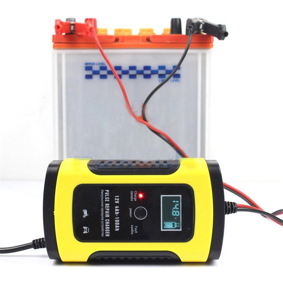 12v 5a Lcd Car Motorcycle Pulse Repair Battery Charger Lead Acid By L200 Storage With Display Eu Version