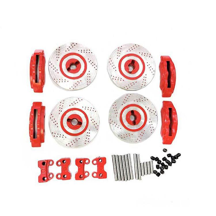 Full Metal Disc Brake Hub Calipers Set for TRAXXAS TRX4 TRX6 RC Car Accessories