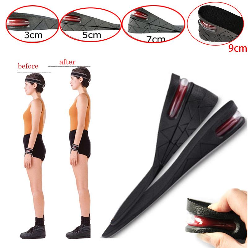 3cm 5cm 7cm 9cm Men Women Shoe Lift Height Increase Heel Insoles Insert Taller