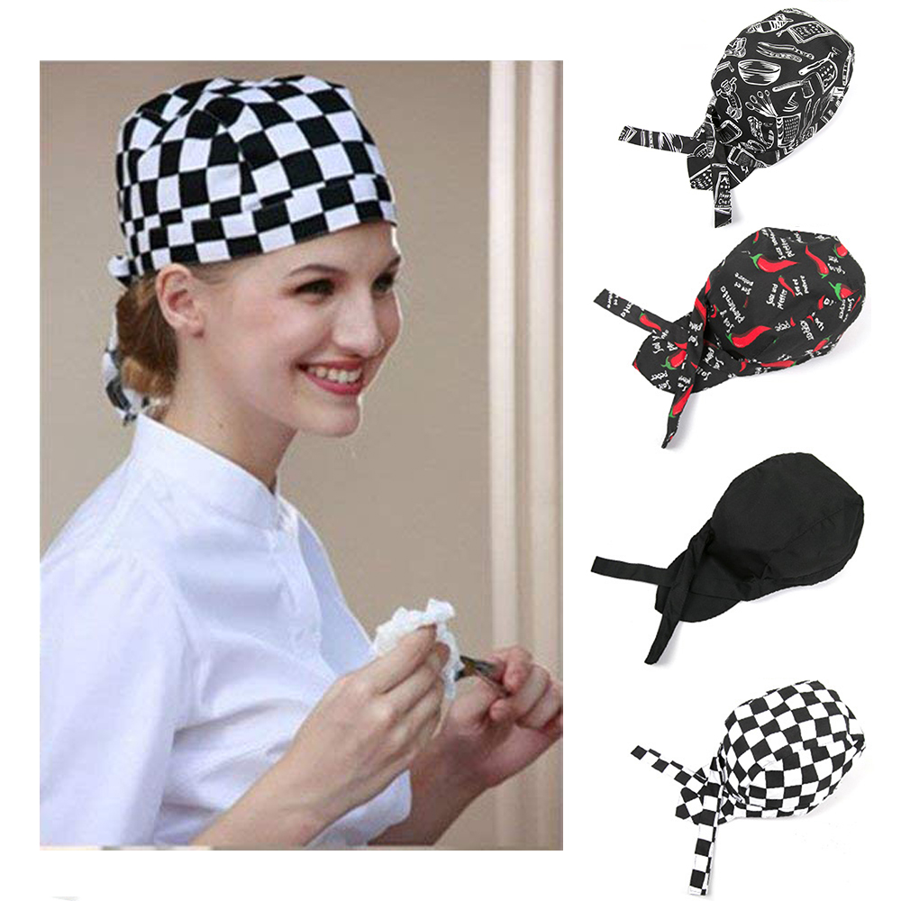 3b1fcba9 Details about Adjustable Men Women Kitchen Baker Chef Elastic Caps Hats  Catering Various Type