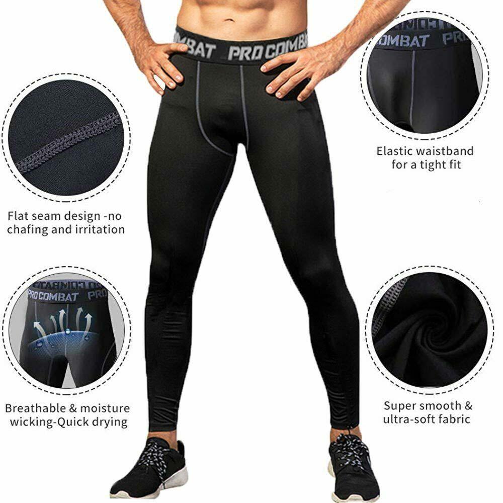 Mens Compression Thermal Under Base Layer Pants Sllim Sport Gym Leggings Trouser
