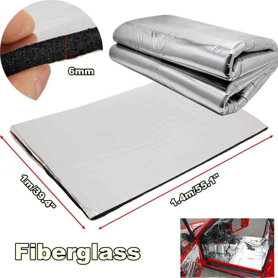 6mm Fiberglass Car Floor Hood Firewall Sound Proofing Insulation