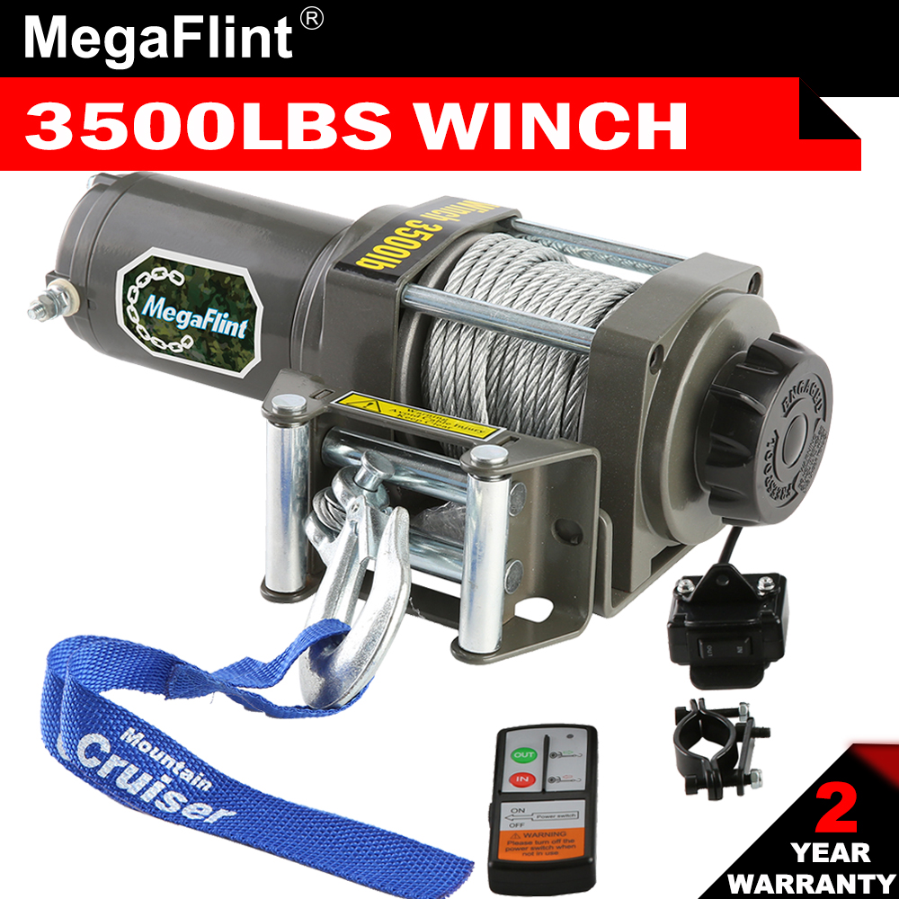 4000 Lb Winch Electric 12V ATV UTV Plow Trailer Boat