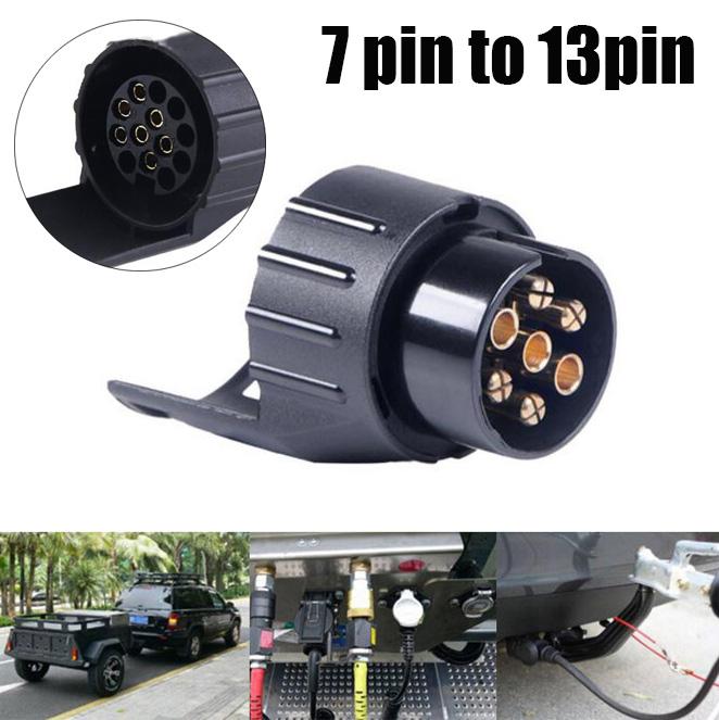 7 to 13 Pin Trailer Car Bus  Electric Converter Tow Bar Plug Adaptor Socket