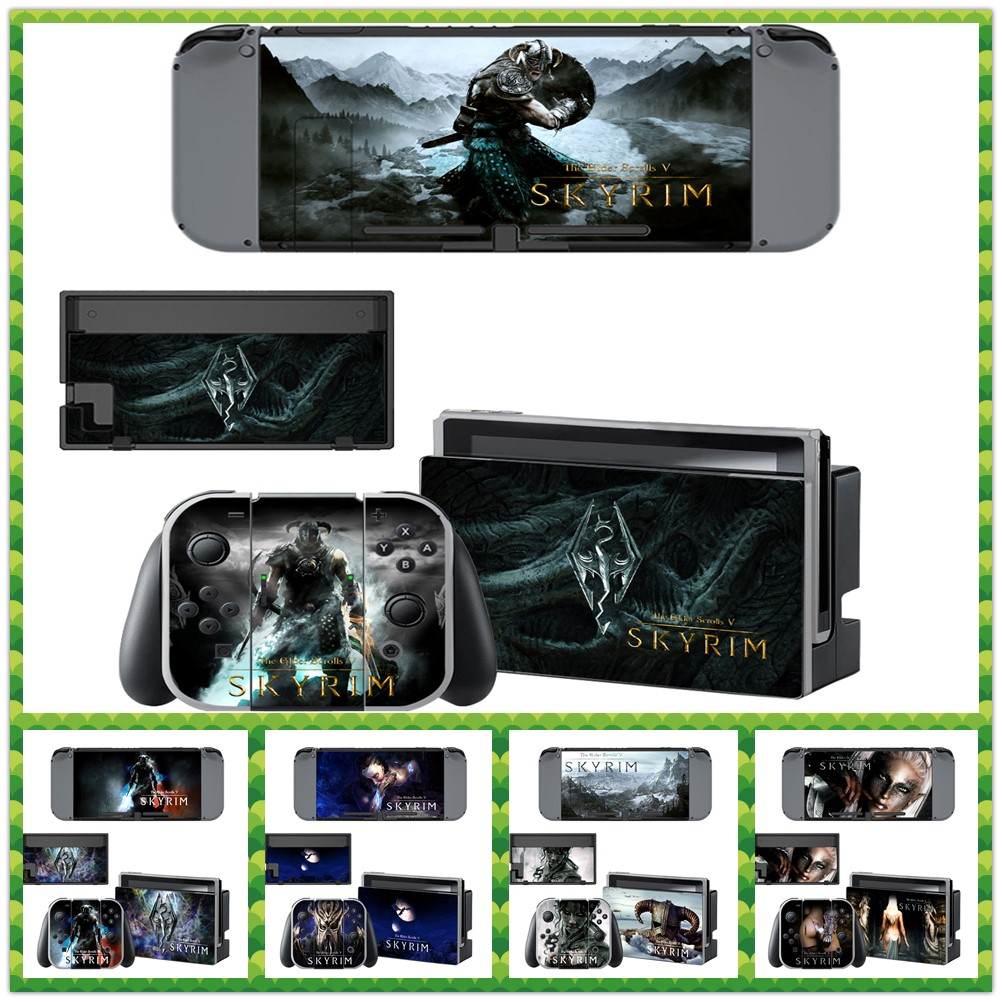 For Nintendo Switch Console Skin Decal Sticker The Elder Scrolls V Tekken 7 Foldable Fan Ps4 Region 3 English Witcher Game Decals Palystation 4 Controller