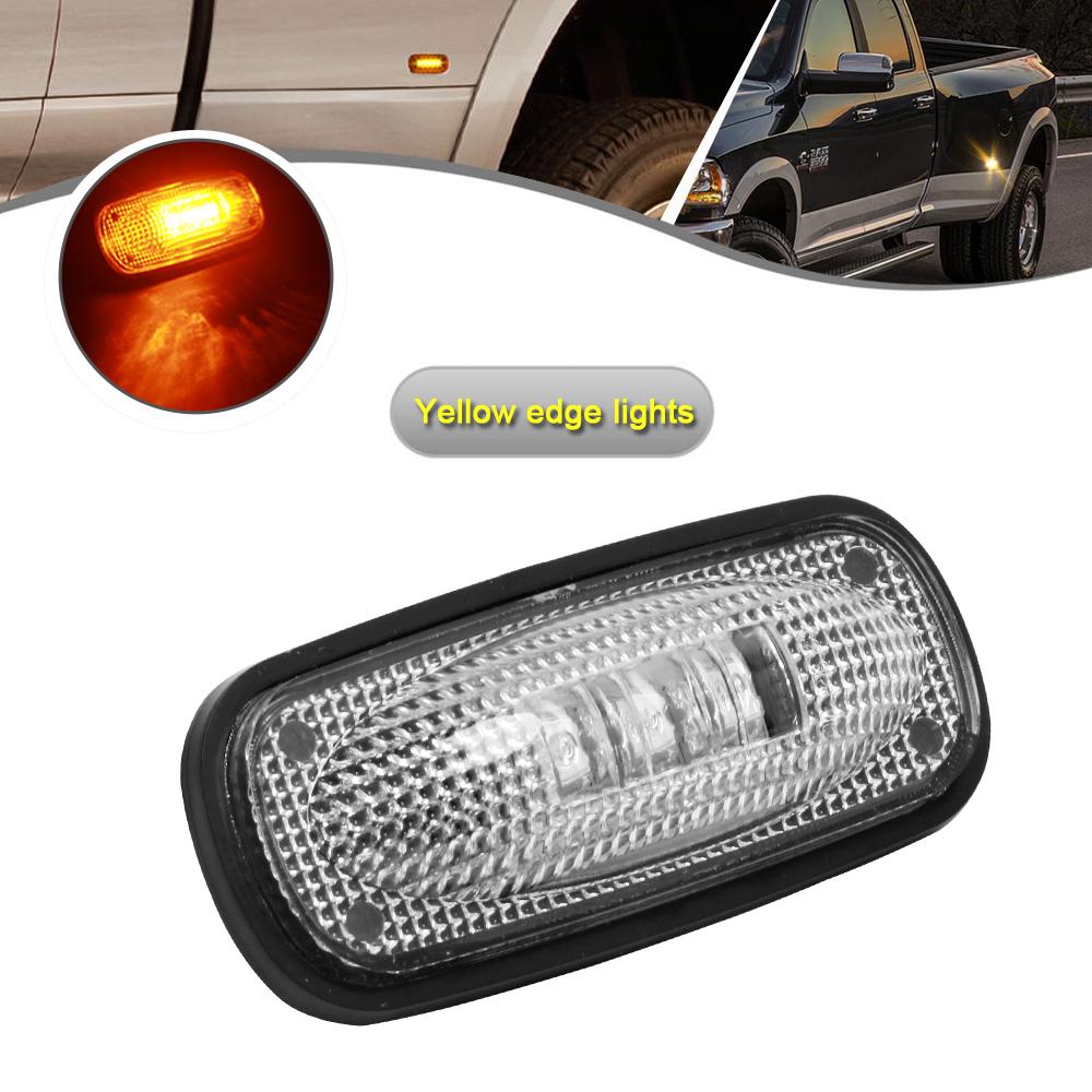 2003-2009 DODGE RAM 3500 LED SIDE FENDER DUALLY BED MARKER LIGHTS CLEAR 4 PC SET