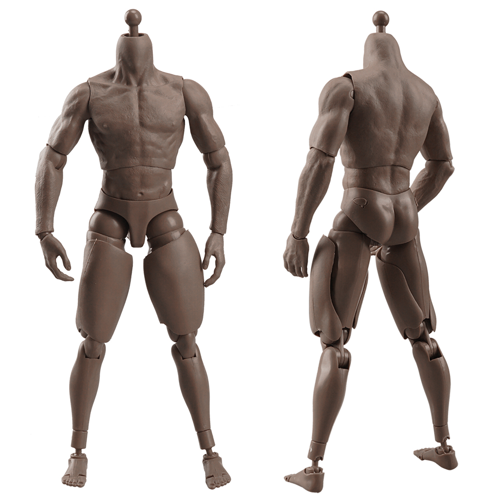 1//6 Fat Male Hairy Plump Body Action Figure Model Fit Phicen Head Crazy Durable