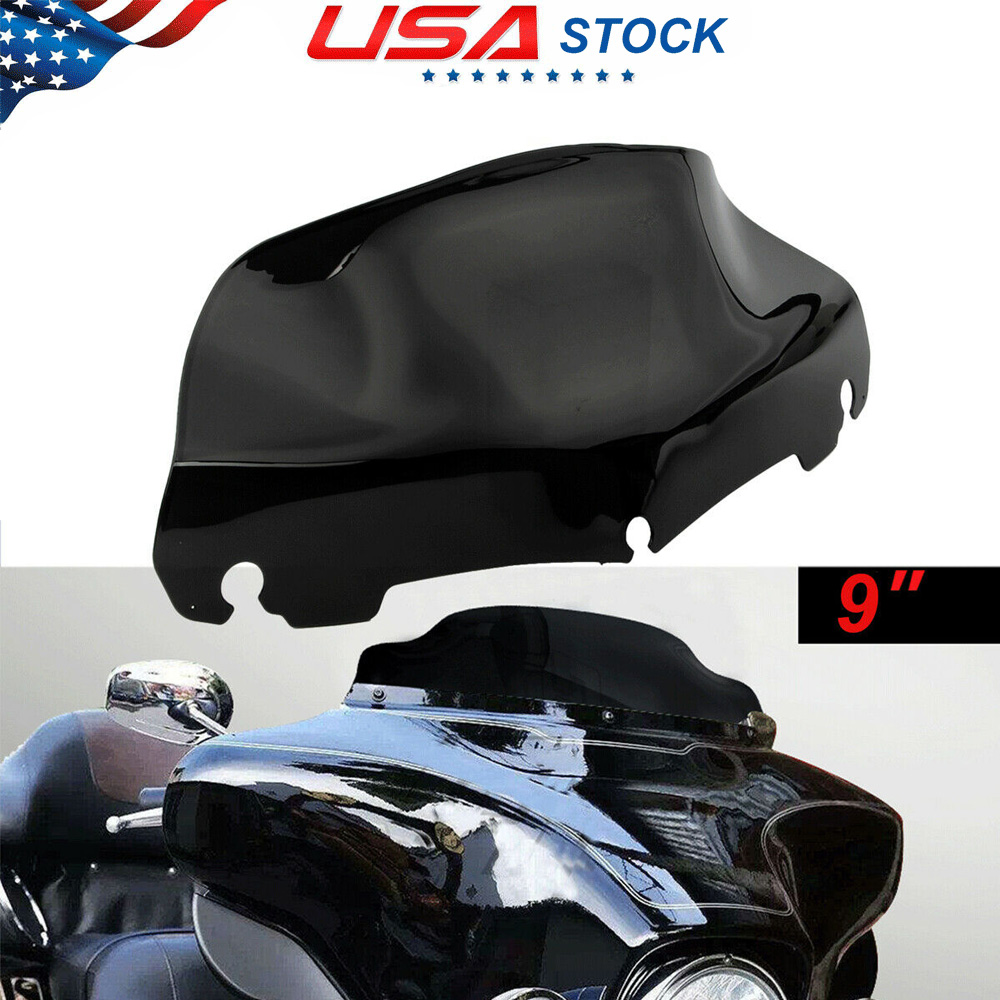 "Light Smoke PVC 10/"" Wave Windshield Windscreen For Harley Touring FLHT 2014-2016"