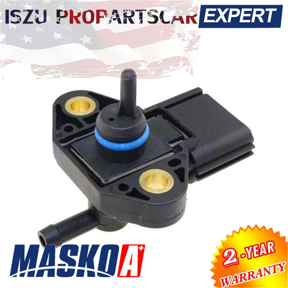 Fuel Injection Pressure Sensor 3F2Z9-G756-AC 3F2E-9G756-AA for Ford F-150 F-250 Super Duty Lincoln Fuel Injection Rail Pressure Sensor-1 Year Warranty