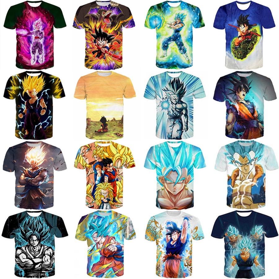Women//Men Dragon Ball Z Fighting Vegeta Print Casual 3D T-Shirt Short Top Tee T9