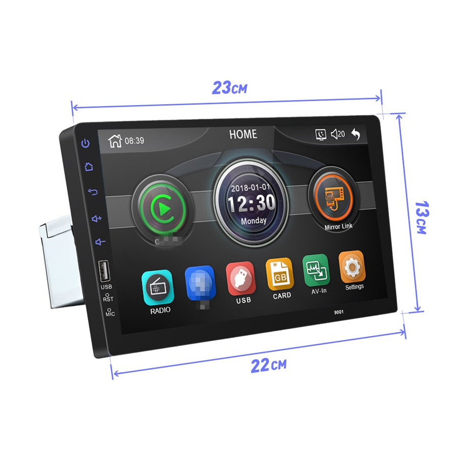 """Universal 9/"""" TouchScreen HD Car Radio Stereo MP5 Player 1Din USB FM WinCE System"""