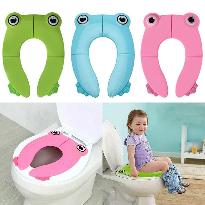 Reusable Kids Toddler Folding Travel Toilet Potty Seat Pad Chair Cushion Safe UK