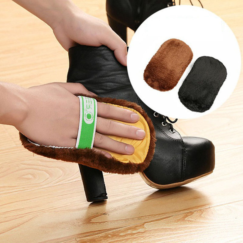 Cleaning Gloves Soft Leather Polishing Cleaner for Shoes Handbag Sofa