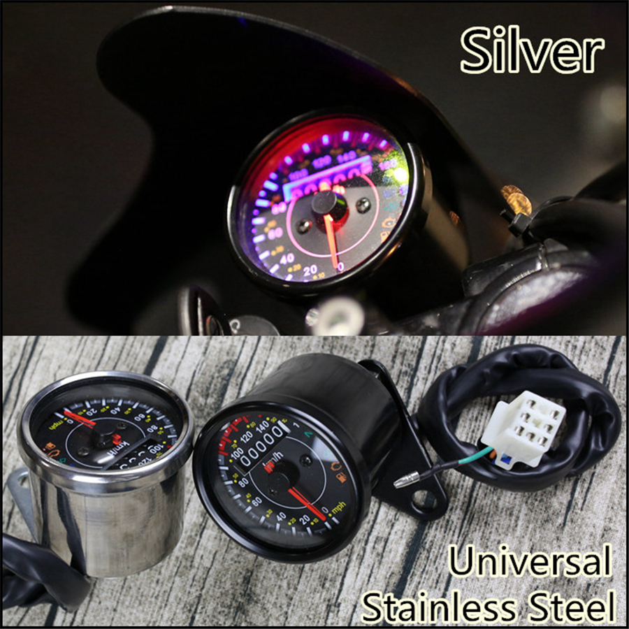 12v motorcycle odometer speedometer km h mph guage efi oil pump indicator meter ebay ebay