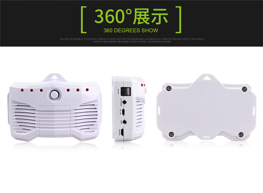 60W 2mA ABS Car Truck Mouse Repeller Smart Ultrasonic Electronic Mouse Repeller