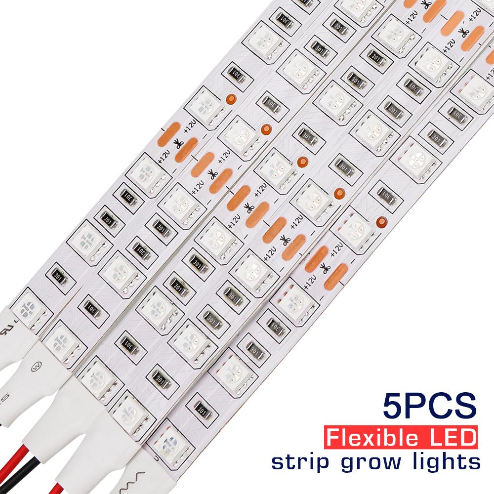 5pcs 0.5M LED Grow Light Strip Full Spectrum Strip For Indoor Plant Growing Lamp