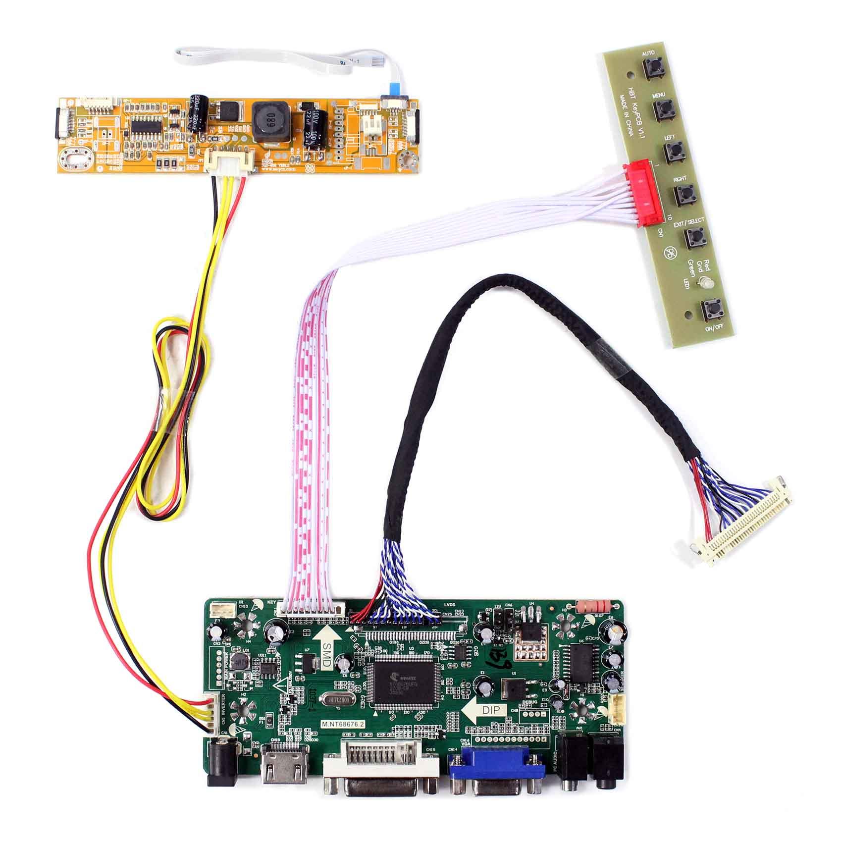 VGA DVI Audio Lcd Driver Controller Board For LP140WH2-TLA1 LP133WH2-TLA2