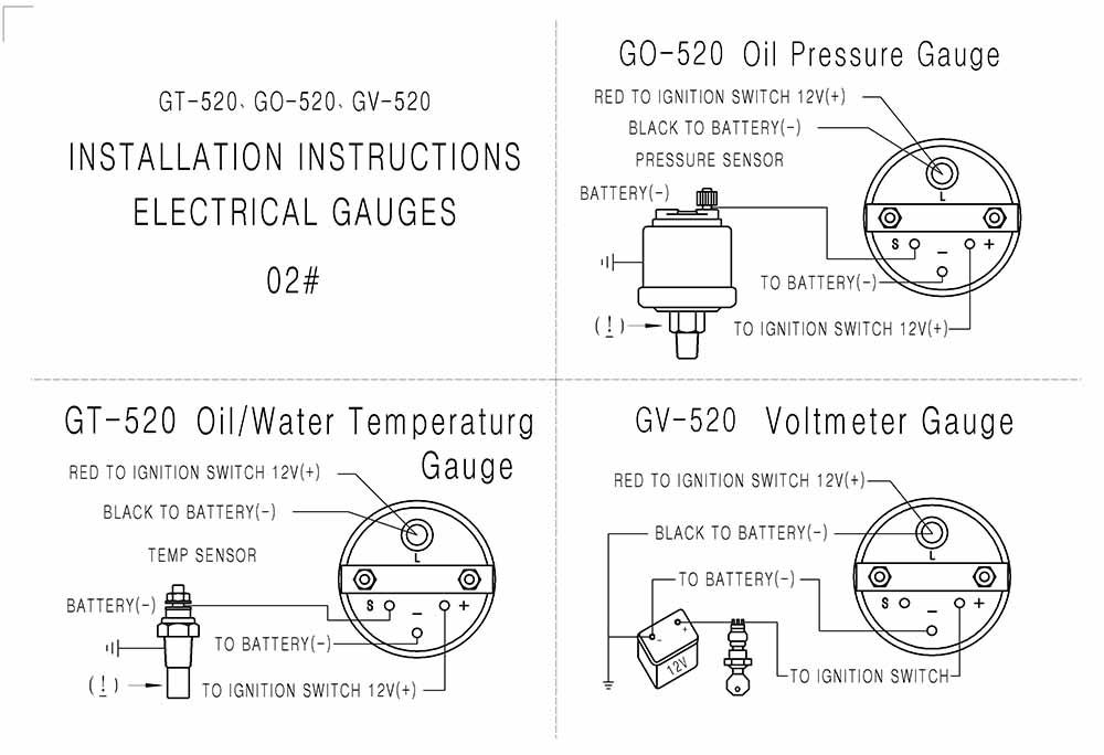 2inch 52mm Universal Car LED Bar Turbo Oil Pressure Gauge Meter Bar on
