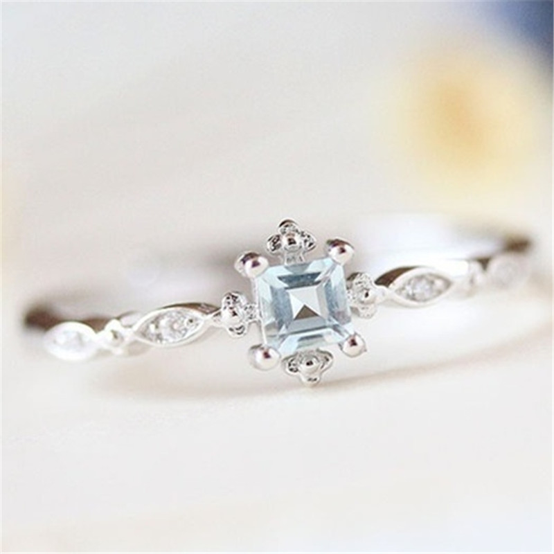 Women Infinity Two Tone 925 Silver Wedding Party Rings White Sapphire Size 6-10