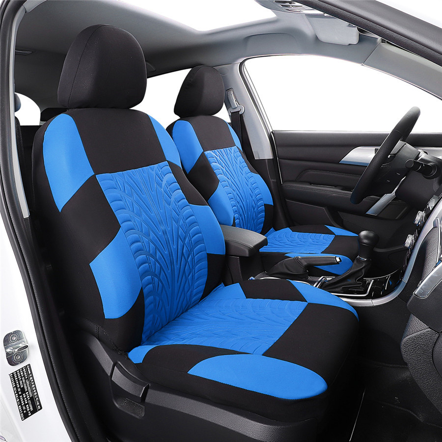 details about 9pcs set tyres imprint embroidery car seat covers for auto interior accessories