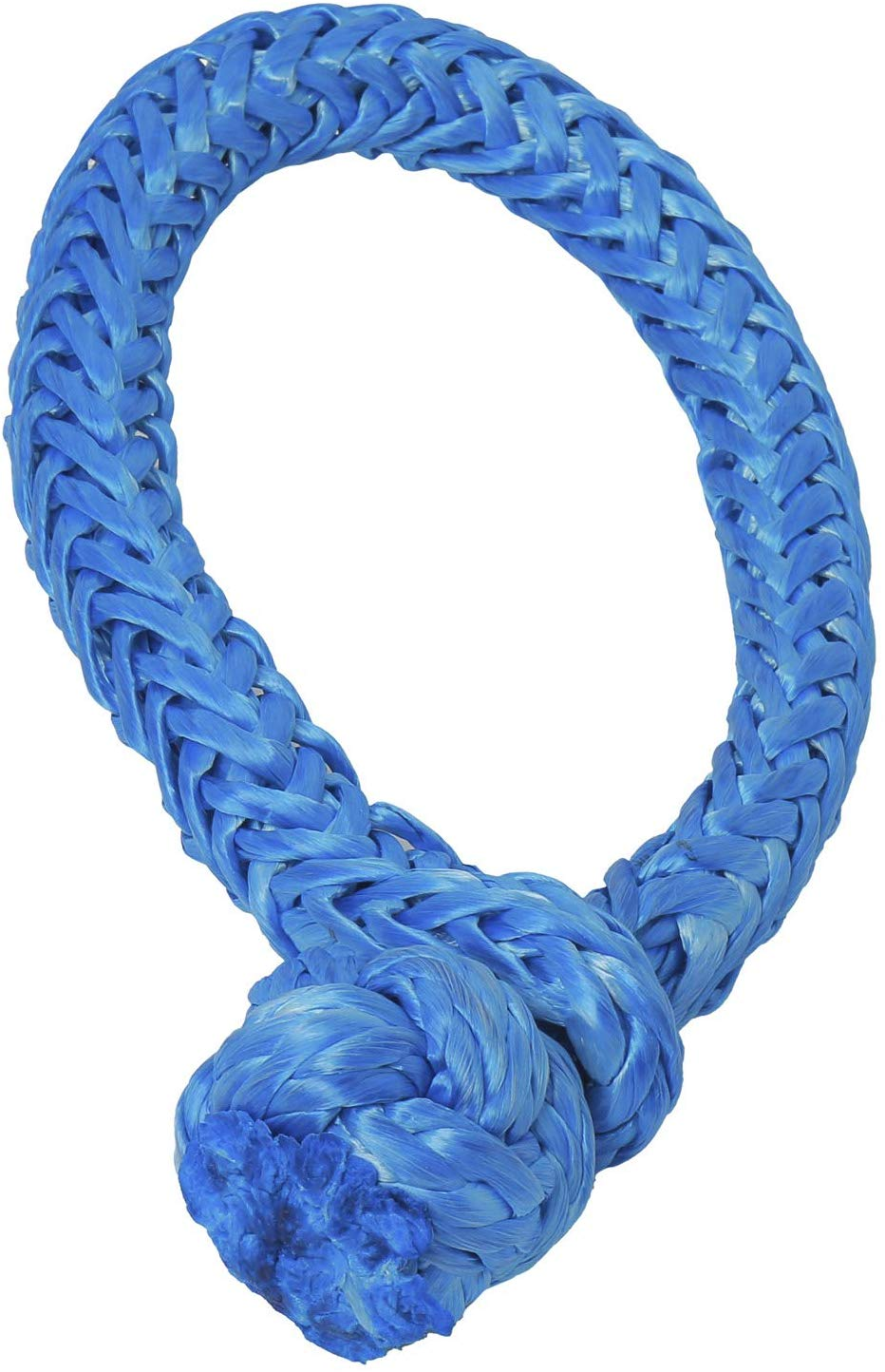 NovelBee 2 Pack of Soft Shackles,UHWMPE 12 Strand Synthetic Rope,Inner core Dia:10mm;Bow Width:150mm Grey