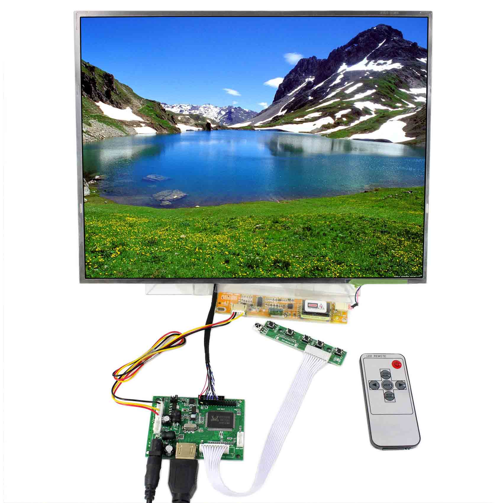 HDMI VGA AV USB LCD Controller Board 15 in LQ150X1LW94 1024X768 LCD Screen