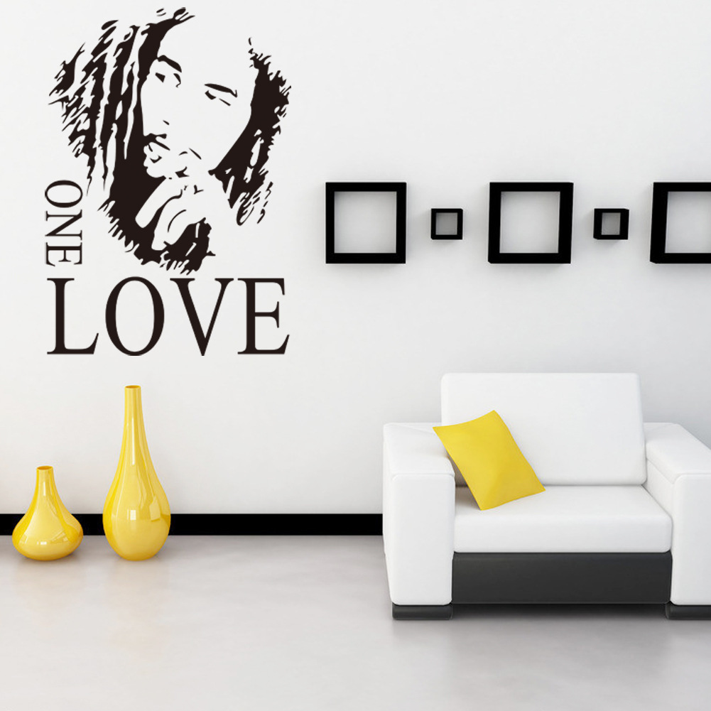 Wall Sticker Vinyl Art Decor BOB MARLEY One Love Mural Removable Decal Room