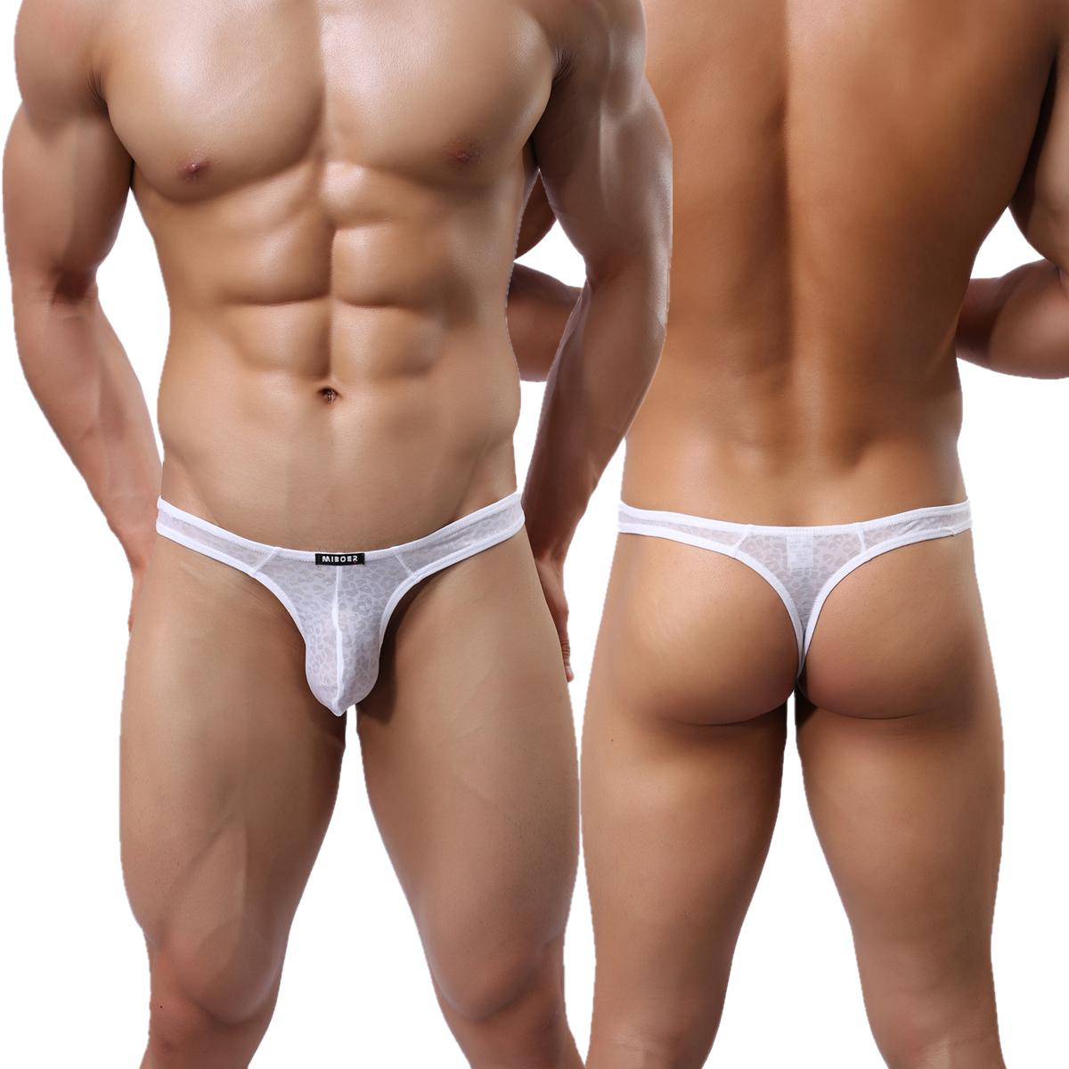 Men's G-Strings Thong See-through Sexy Lace Mesh T-Back Underwear Jock  Strap | eBay