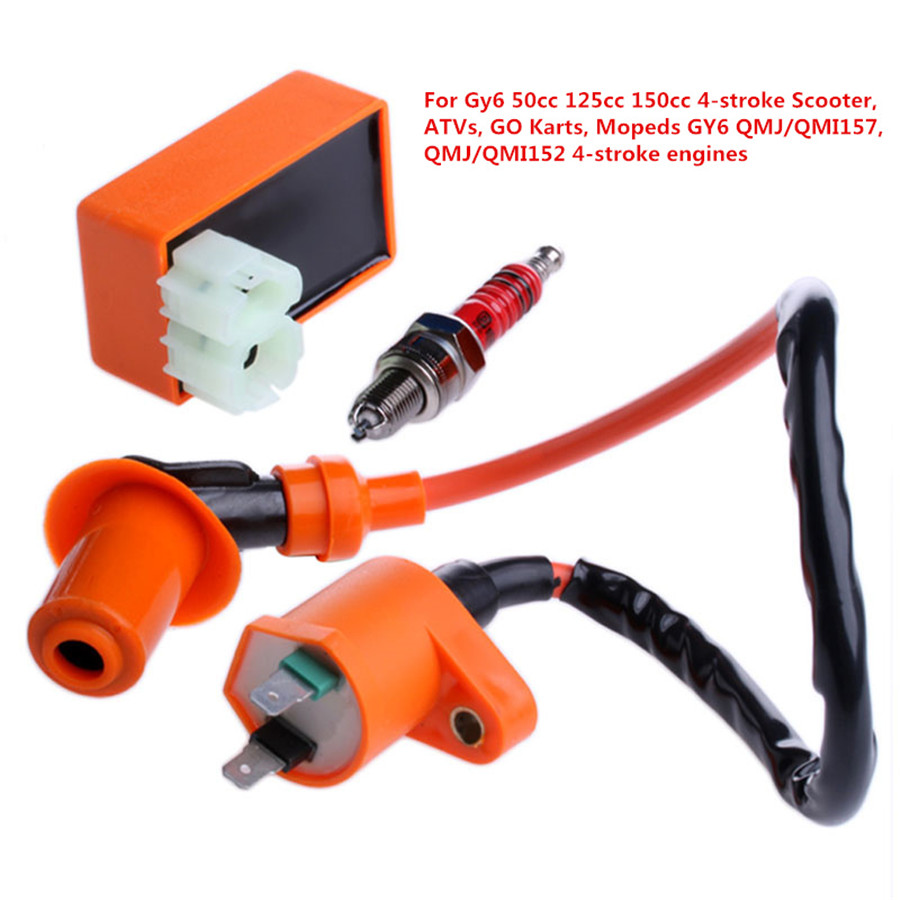 Racing Cdi Box 6 Pin Ignition Coil Spark Plug For Gy6 50 150cc Scooter Wiring Product Description