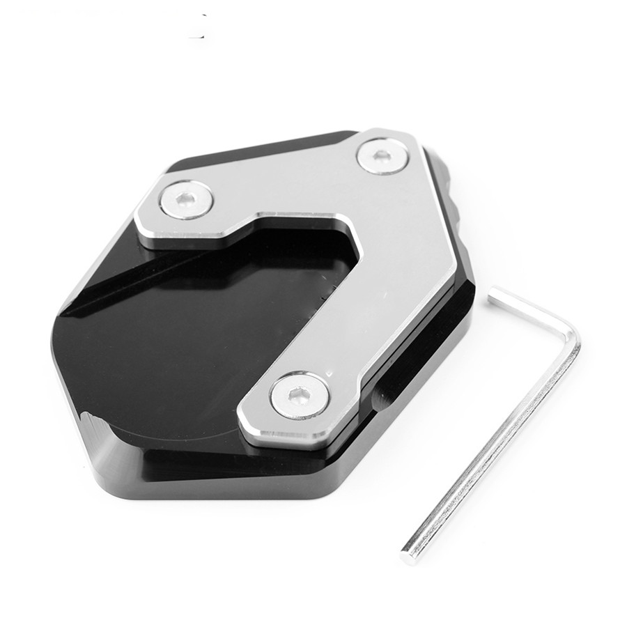 Black New Motorcycle Accessories motorbike Side Stand Enlarger Kickstand Extension Plate for BMW R1200GS LC 2013-2018 Not for R1200GS Adventure LC