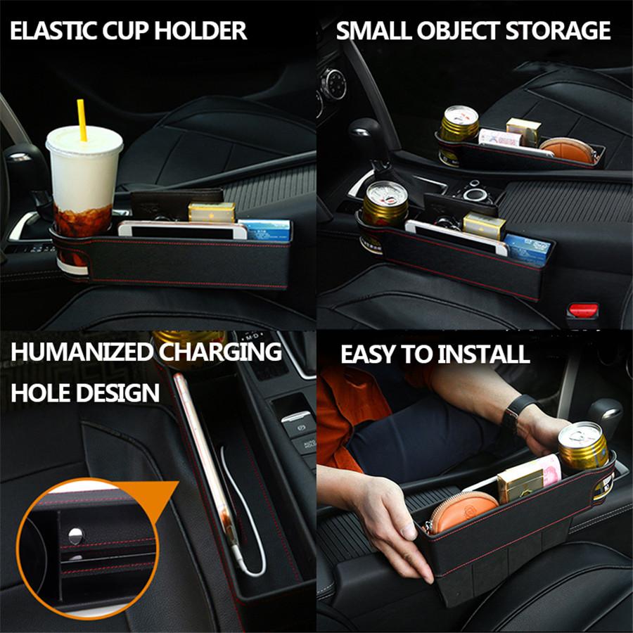 1x Universal Car Driver//Copilot Seat Crevice Storage Box Gap Filler Accessories